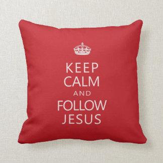 Mantenga tranquilo y siga a Jesús Cojin