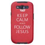 Mantenga tranquilo y siga a Jesús Samsung Galaxy S3 Funda