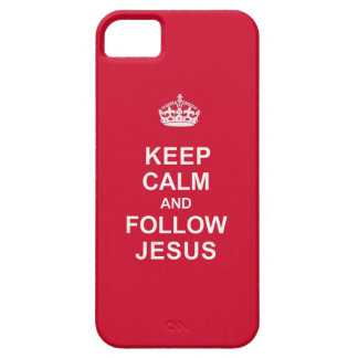 Mantenga tranquilo y siga a Jesús iPhone 5 Coberturas