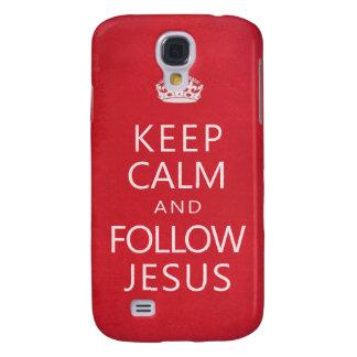 Mantenga tranquilo y siga a Jesús Funda Para Galaxy S4