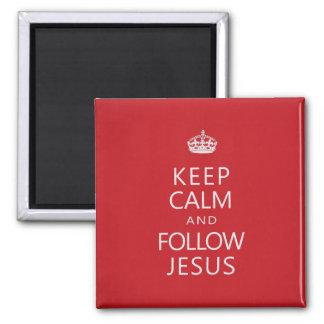 Mantenga tranquilo y siga a Jesús Imán Cuadrado