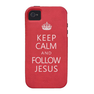 Mantenga tranquilo y siga a Jesús Vibe iPhone 4 Carcasas
