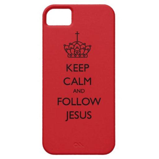 Mantenga tranquilo y siga el caso del iPhone de Funda Para iPhone 5 Barely There