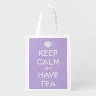 Mantenga tranquilo y tenga lavanda del té bolsas de la compra