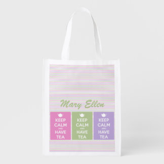 Mantenga tranquilo y tenga tote reutilizable bolsas de la compra