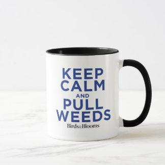 Mantenga tranquilo y tire de las malas hierbas