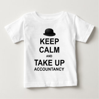 Mantenga tranquilo y tome la contabilidad polera