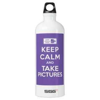 Mantenga tranquilo y tome las imágenes