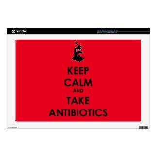 Mantenga tranquilo y tome los antibióticos 43,2cm portátil calcomanía