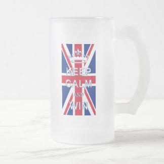 Mantenga tranquilo y triunfo Union Jack Taza De Café