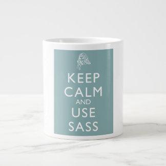 Mantenga tranquilo y utilice el Sass Taza Grande