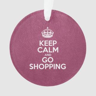 Mantenga tranquilo y vaya a hacer compras - cuero