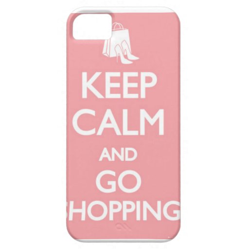 mantenga tranquilo y vaya a hacer compras funda para iPhone 5 barely there