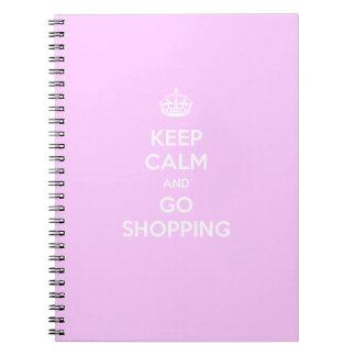 Mantenga tranquilo y vaya a hacer compras libros de apuntes