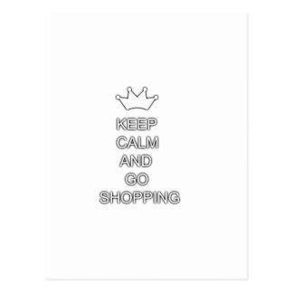 Mantenga tranquilo y vaya a hacer compras postal