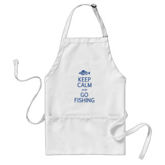 Mantenga tranquilo y vaya a pescar el delantal - e