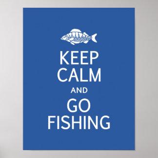 Mantenga tranquilo y vaya a pescar el poster