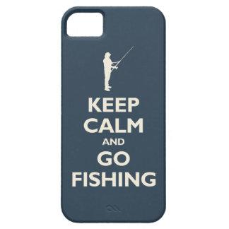 Mantenga tranquilo y vaya a pescar (la marina de iPhone 5 funda