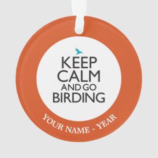 Mantenga tranquilo y vaya Birding