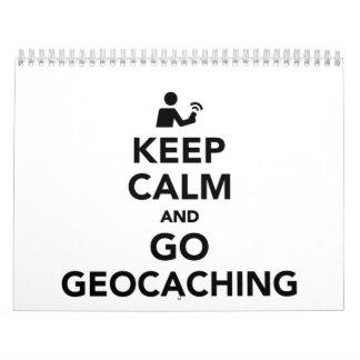 Mantenga tranquilo y vaya Geocaching Calendarios