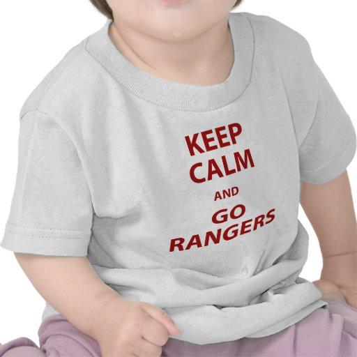 Mantenga tranquilo y vaya los guardabosques camiseta