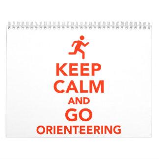 Mantenga tranquilo y vaya Orienteering Calendarios