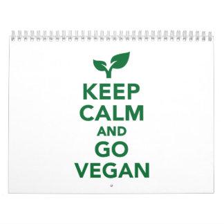 Mantenga tranquilo y vaya vegano calendario