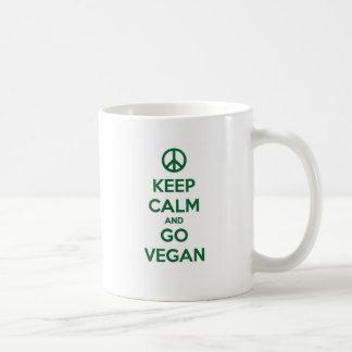 Mantenga tranquilo y VAYA VEGANO Taza De Café