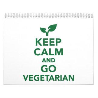 Mantenga tranquilo y vaya vegetariano calendarios