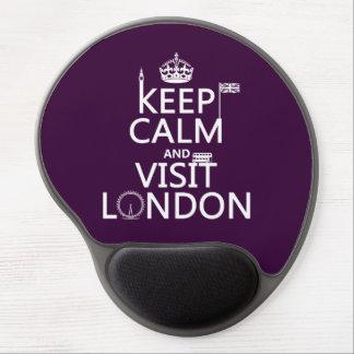 Mantenga tranquilo y visita Londres (cualquier col Alfombrilla De Ratón Con Gel