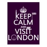 Mantenga tranquilo y visita Londres (cualquier col Tarjetas Postales
