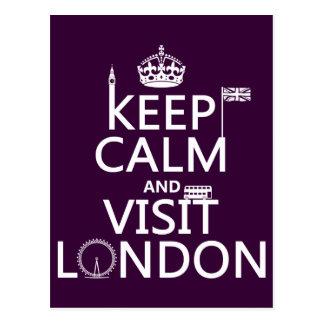 Mantenga tranquilo y visita Londres cualquier col Tarjetas Postales