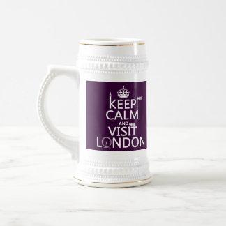 Mantenga tranquilo y visita Londres (cualquier col Tazas