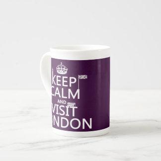 Mantenga tranquilo y visita Londres (cualquier col Taza De Porcelana