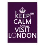 Mantenga tranquilo y visita Londres (cualquier Invitación