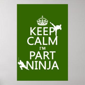 Mantenga tranquilo yo son parte Ninja (en Póster