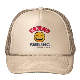 Mantenga Trinidad and Tobago sonrientes sonrientes Gorra