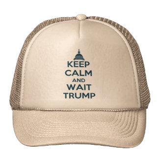 Mantenga triunfo tranquilo y de la espera gorras