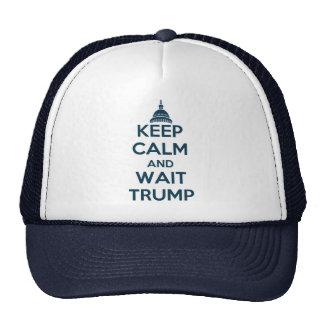 Mantenga triunfo tranquilo y de la espera gorras de camionero