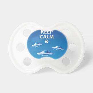 Mantenga vector tranquilo y del reloj de UFOs Chupetes Para Bebes