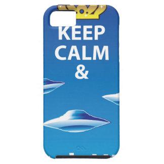 Mantenga vector tranquilo y del reloj de UFOs iPhone 5 Funda