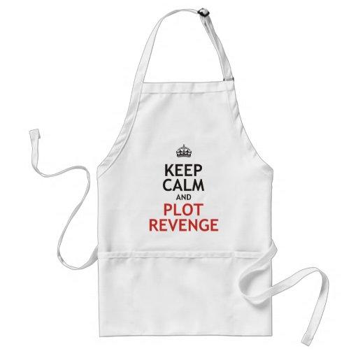 Mantenga venganza tranquila y del diagrama delantal