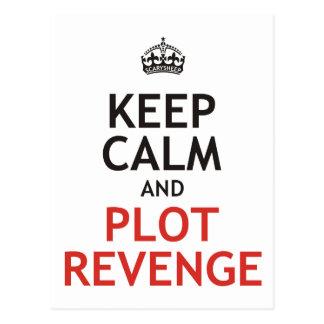 Mantenga venganza tranquila y del diagrama postal