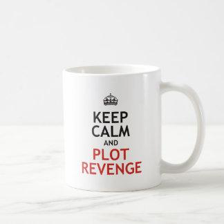 Mantenga venganza tranquila y del diagrama taza