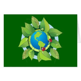 Mantenga verde para el Día de la Tierra Tarjeta De Felicitación