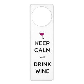Mantenga vino tranquilo y de la bebida colgante para puerta