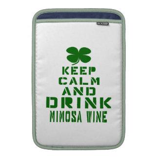 Mantenga vino tranquilo y de la bebida del Mimosa Funda MacBook