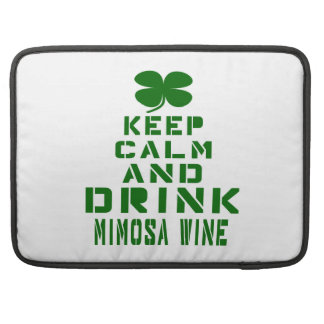 Mantenga vino tranquilo y de la bebida del Mimosa Fundas Para Macbooks