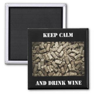 Mantenga vino tranquilo y de la bebida imanes