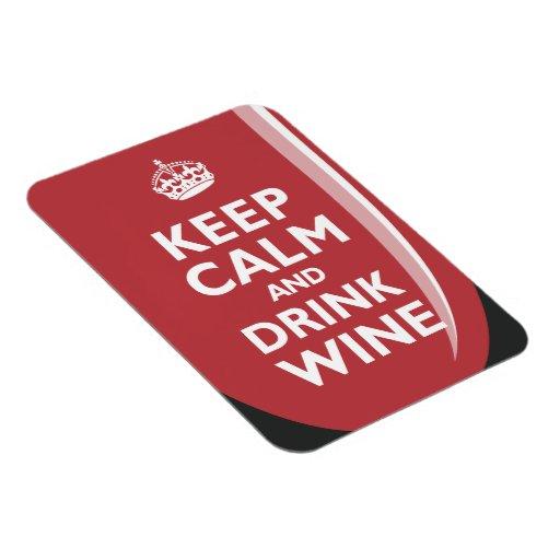 Mantenga vino tranquilo y de la bebida imán flexible